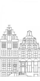 Esta Home Little Bandits PhotowallXL Getekende Amsterdamse Grachtenhuisjes 158834