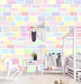 Behangexpresse Kay & Liv Wallprint Bricks INK 7040