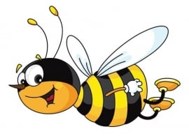 Dutch DigiWalls Olly Fotobehang 13028 Bill the Bee