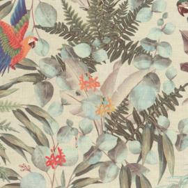 Hookedonwalls Lemuria behang Parrot 60621
