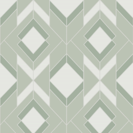 Hookedonwalls Tinted Tiles behang Helix 29034