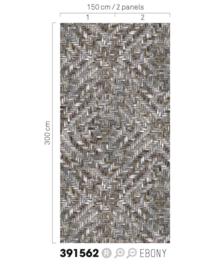 Eijffinger Terra Wallpower 391562 Weave Ebony