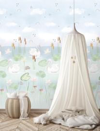 Behangexpresse Kate & Andy Wallprint Swan Pond INK7455