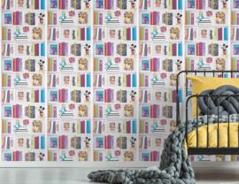 Noordwand Kids@Home Inidvidual behang Disney Bookshelf 106455