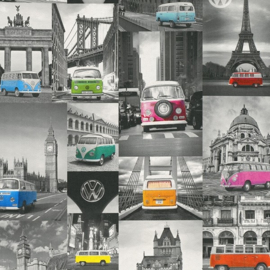 Dutch Collage Volkswagen Bus behang 42509-10