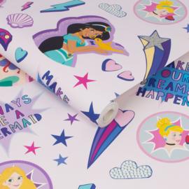 Noordwand Kids@Home Inidvidual behang Princess Badges 108018