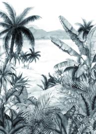 Hookedonwalls Blooming behangpaneel Tropical BLD22781