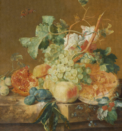 Dutch Wallcoverings Painted Memories Mural Still Life with Fruits 8008