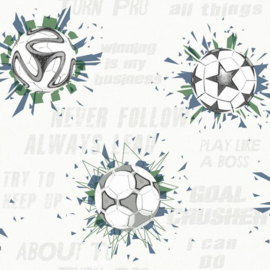 York Wallcoverings A Perfect World behang KI 0575 Soccer Ball Blast