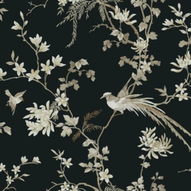 York Wallcoverings Ronald Redding 24 Karat behang Bird and Blossom Chinoiserie KT2173