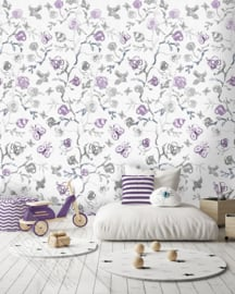 Behangexpresse Abby & Bryan Wallprint Sweet Roses Lila INK 7244