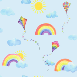 Dutch Over the Rainbow behang Rainbows and Flying Kites 91022