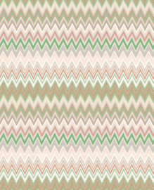 Hookedonwalls Missoni Home Zig Zag multicolore behang 10065