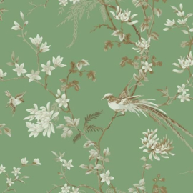 York Wallcoverings Ronald Redding 24 Karat behang Bird and Blossom Chinoiserie KT2175