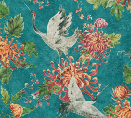 AS Creation Asian Fusion behang Kraanvogels 37464-1