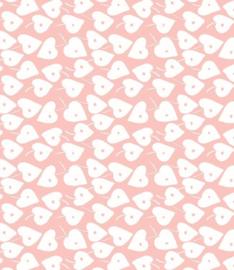 Plakplastic Lola Love Leaf Crystal Pink 45CM breed x 3M