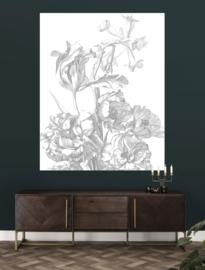 KEK Amsterdam Flora & Fauna behangpaneel Engraved Flowers PA-015