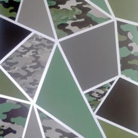 Arthouse Camo Fragments Green behang 909709