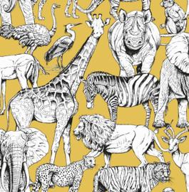 Noordwand Kids@Home Inidvidual behang Jungle Animal Jaune 107691