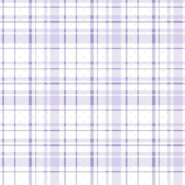 York Wallcoverings A Perfect World behang KI 0530 Polka Dot Plaid