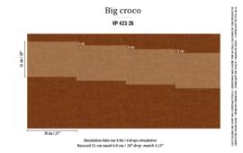 Élitis Anguille Big Croco Galuchat Big Croco behang VP 42326
