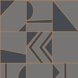 Hookedonwalls Tinted Tiles behang Groove 29043