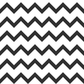 Esta Home Black & White - with a splash of gold behang Zigzag 139115