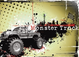 Dutch DigiWalls Olly Fotobehang 13021 Monster Truck