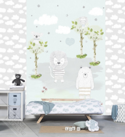Behangexpresse Kay & Liv Wallprint Bears & Lions INK 7007