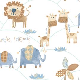 Noordwand Just 4 Kids 2 behang Jungle Friends G56022