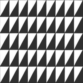 Esta Home Black & White - with a splash of gold behang Grafische Driehoeken 139077