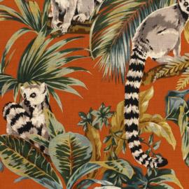 Hookedonwalls Lemuria behang Lemuri 60603