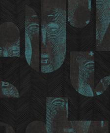 Khrôma Tribute behang Mask Jungle TRI303