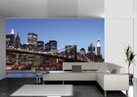 AG Design Fotobehang Brooklyn Bridge FTS0107