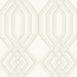 York Wallcoverings Handpainted Traditionals behang Etched Lattice TL1914