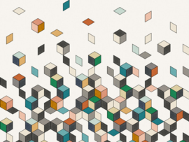 BN Cubiq Mural Faling Cube 200451