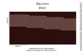 Élitis Anguille Big Croco Galuchat Big Croco behang VP 42311