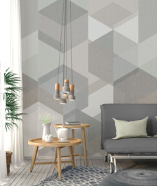 Behangexpresse Timeless Wallprint Hexa Light INK 7161