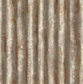Dutch Reclaimed behang FD22334 Corrugated Metal Rust