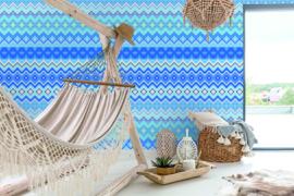 Behangexpresse Happy Living Wallprint Merida Blue TD4007