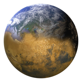 Noordwand Good Vibes behangcirkel Earth GVC24311