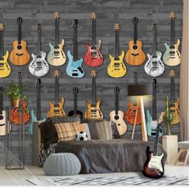Behang Expresse Thomas Wallprint Guitarlife Black INK 7090