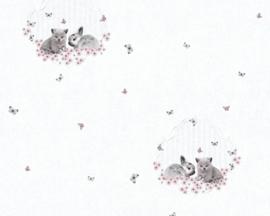 AS Creation Little Stars Vlinder Konijn Poes behang 35564-2