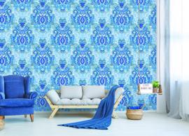 Behangexpresse Happy Living Wallprint Yogi Blue TD4009
