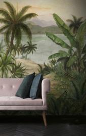 Hookedonwalls Blooming behangpaneel Tropical BLD22780