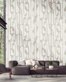 Eijffinger Bold Wallpower 395895 Tapestry White Linen