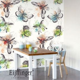 Eijffinger Wallpower Wanted Aquarel Butterflies 301634