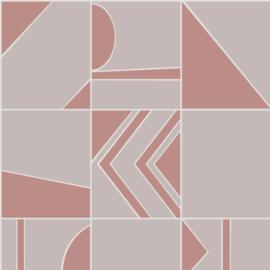 Hookedonwalls Tinted Tiles behang Groove 29041