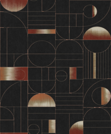 Khrôma Prisma behang Eclipse Rust PRI702