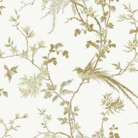 York Wallcoverings Ronald Redding 24 Karat behang Bird and Blossom Chinoiserie KT2174